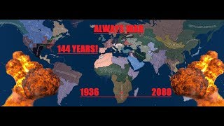 Always War, 144 Years LONG 1936 - 2080, Hearts Of Iron 4, Timelapse