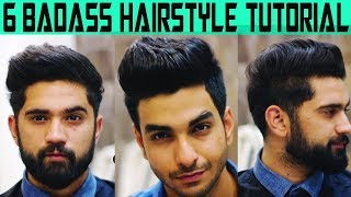 6 HAIRSTYLES WORTH TRYING this summer! STep by step hairstyling tutorial for indian  men/boys 2018