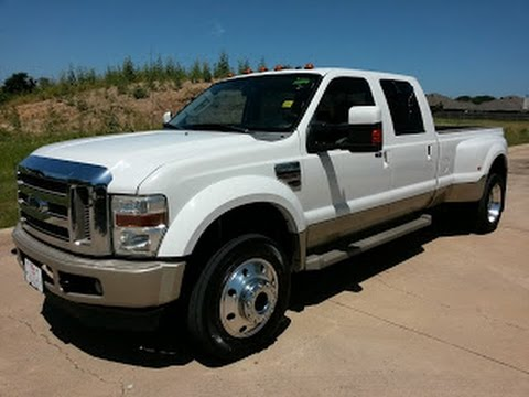 $26,991 2008 FORD SUPER DUTY F-450 DRW LARIAT CREW CAB 4x4 King Ranch TDY Sales - YouTube