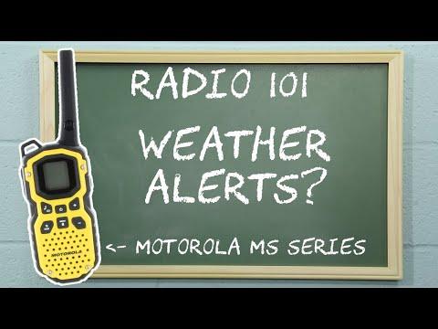 Radio 101 - Activating Weather Alerts on Motorola Talkabout MS Series Radios