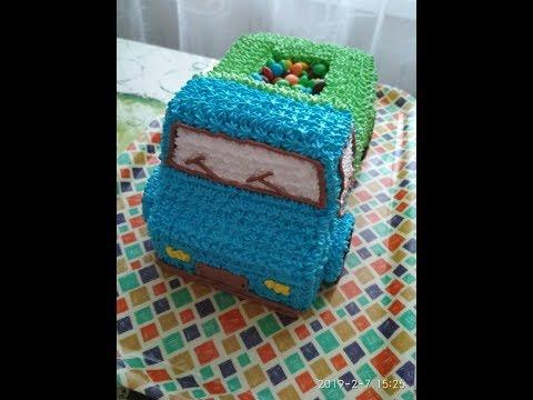 Оформление торта Грузовичок.