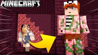 ZOMBIE PIGMAN TROLL?! - ZABAWA W CHOWANEGO W MINECRAFT (Hide and Seek) | Vito vs Bella