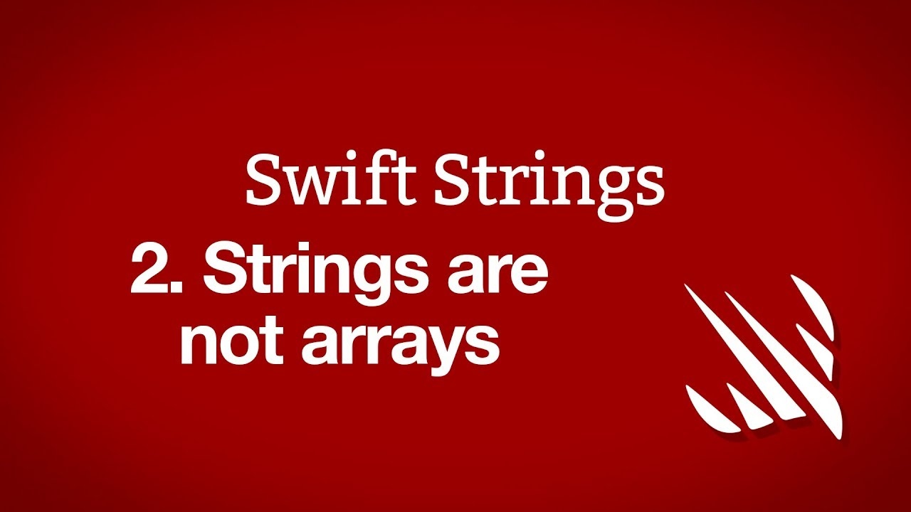 Strings are not arrays - a free Hacking with Swift tutorial