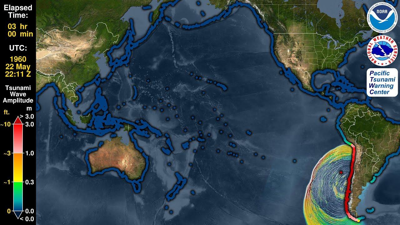 Tsunami Forecast Model Animation: Chile 1960