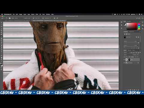 SPEED PHOTOSHOP ART // TUTORIAL // GROOT