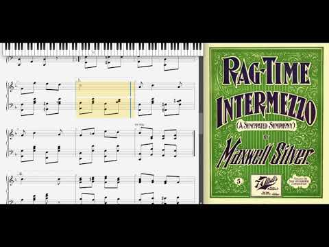 Ragtime Intermezzo by Maxwell Silver (1900, Ragtime piano)