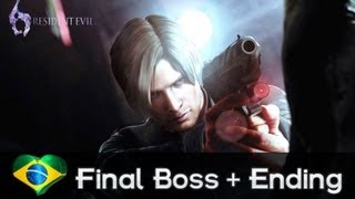 Resident Evil 6 - Final Boss and Ending [HD]