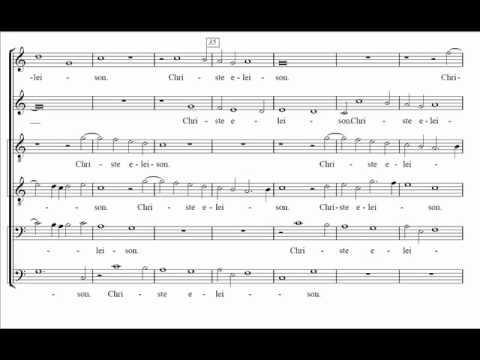 Palestrina - Missa Papae Marcelli - I. Kyrie (score)