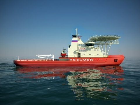 New icebreaker ship will cut through ice sideways