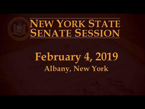 New York State Senate Session - 02/04/19 Mp3