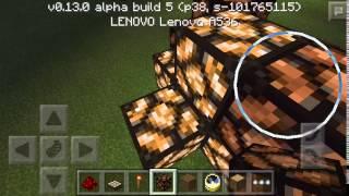 мигающие света дерево в Minecraft PE