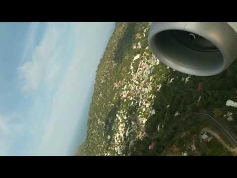 Décollage de l'aéroport de Pamandzi à Mayotte