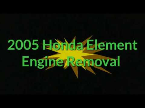 2005 Honda Element Engine Removal