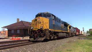 CSX and NS in NW Ohio May 8th 2017 Swanton, Deshler, and Fostoria