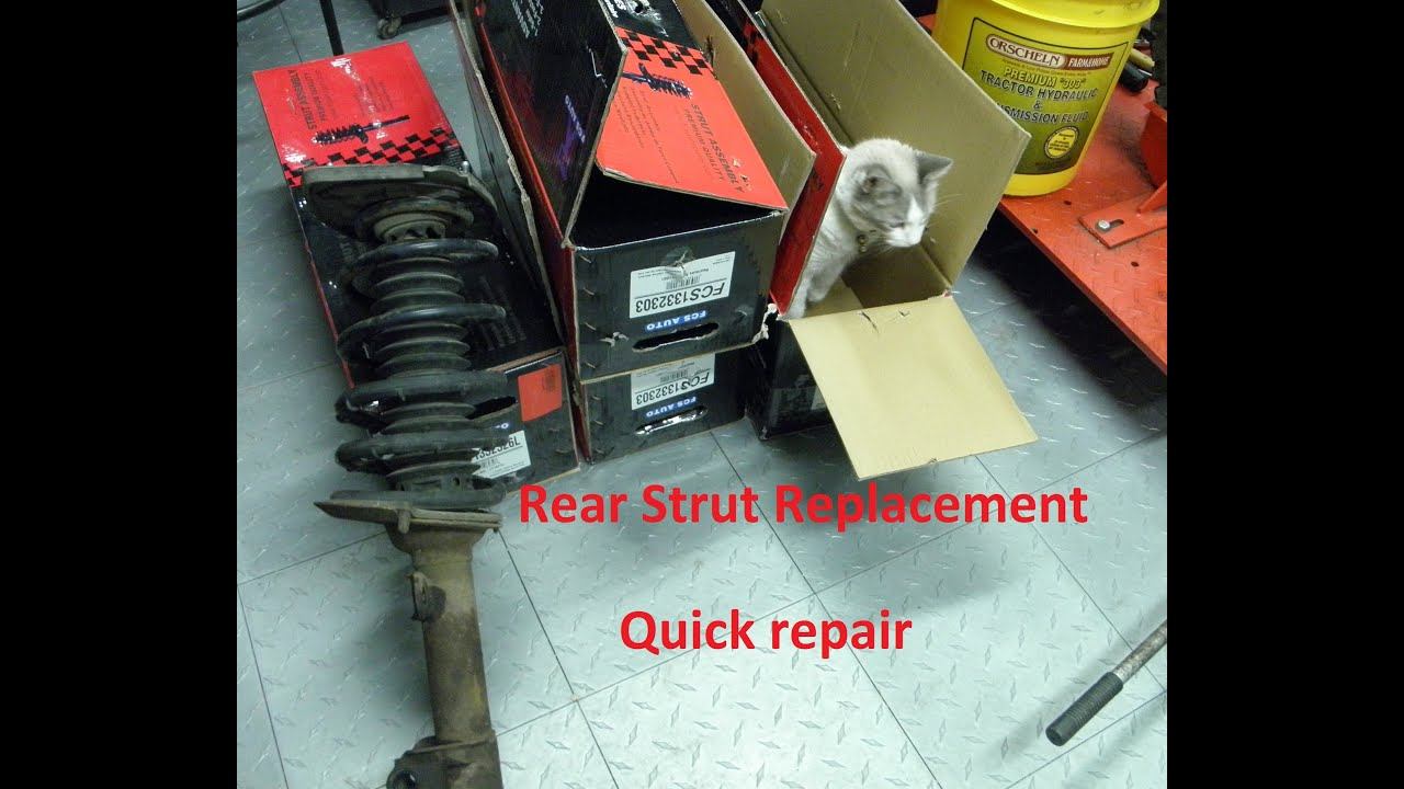 how to replace rear suspension struts on most cars chevy impala