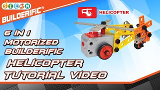 Builderific™ HOW TO - Motorized Helicopter Tutorial Video | RED BOX TOY