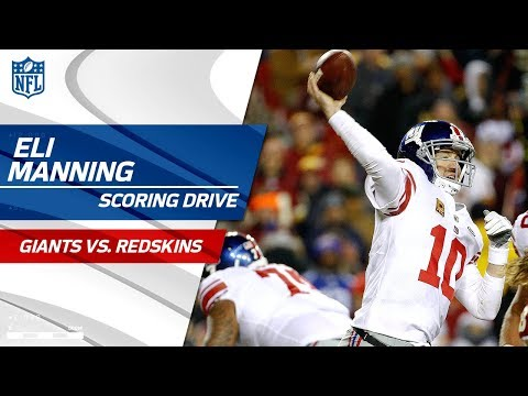 Eli Manning Leads His Team Downfield for a FG vs. Washington! | Giants vs. Redskins | NFL Wk 12