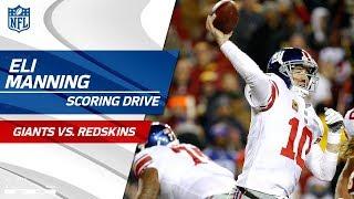 Eli Manning Leads His Team Downfield for a FG vs. Washington! | Giants vs. Redskins | NFL Wk 12