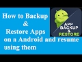 How to Backup & Restore Android Apps and resume using it anytime | Titanium Backup #[Root]