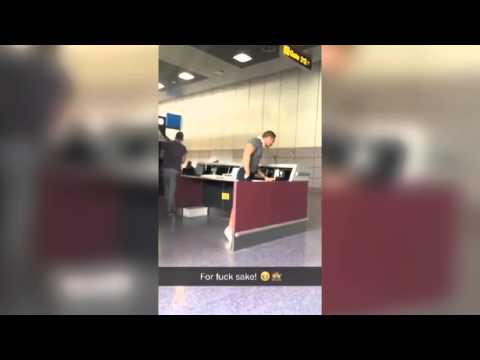 "Airport Announcement: ""Can the Real Slim Shady Please Stand Up."" 