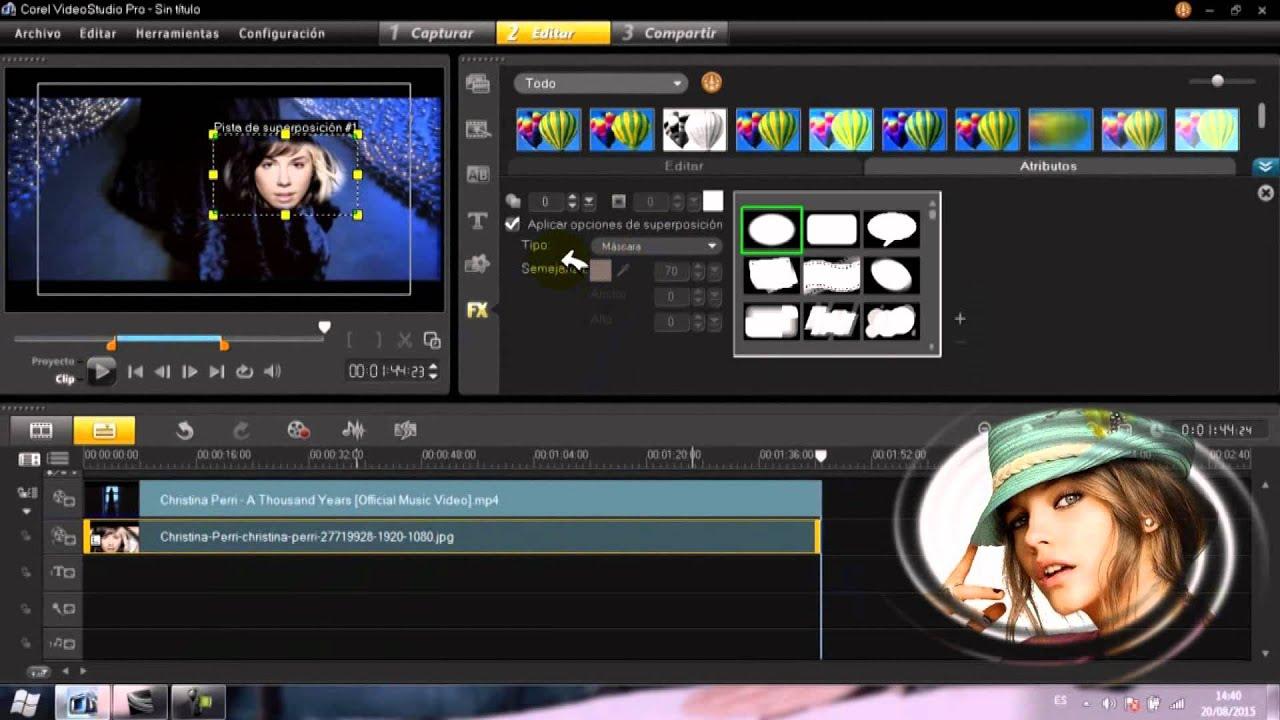 Corel Videostudio Pro X5 X6 X7 X8 Tutorial Mascara O