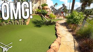 THE HARDEST MINI GOLF SHOT AT CONGO RIVER GOLF! IMPOSSIBLE MINI GOLF HOLE IN ONE?!