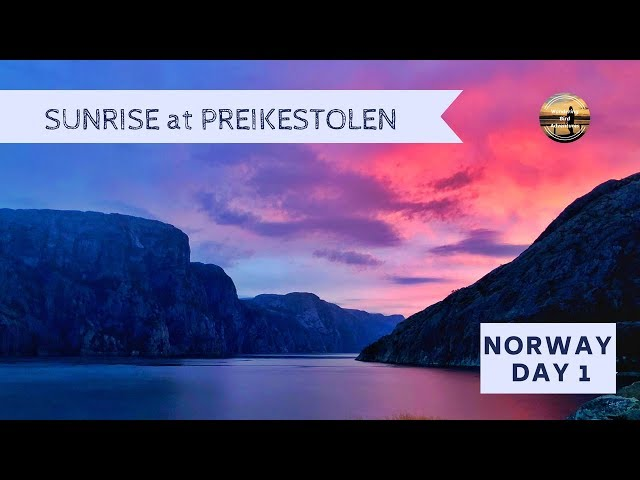 NORWAY DAY 1- Motorhome Road Trip 2018 - AMAZING free camping spot near Preikestolen