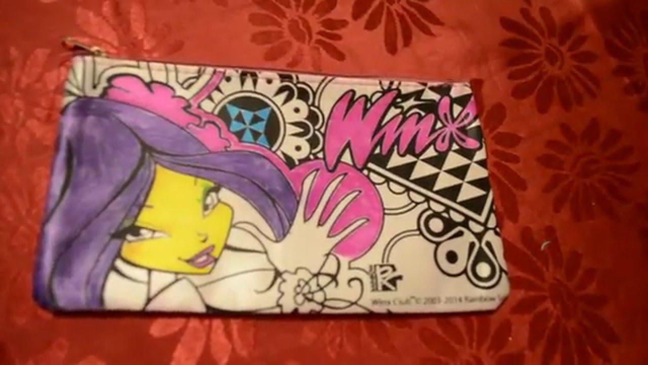 Косметичка-раскраска Винкс(Winx)! - YouTube