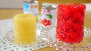 Whole Canned Fruit Jelly 缶詰め丸ごとゼリー