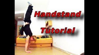 Handstand Tutorial (Deutsch/ German) [ENGLISH SUBT