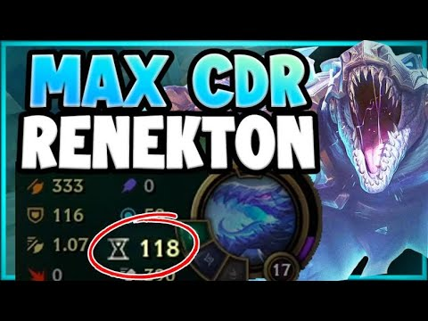 WTF! RIOT 100% MESSED UP WITH NEW CDR ITEMS! MAX CDR RENEKTON SEASON 11! League of Legends Gameplay