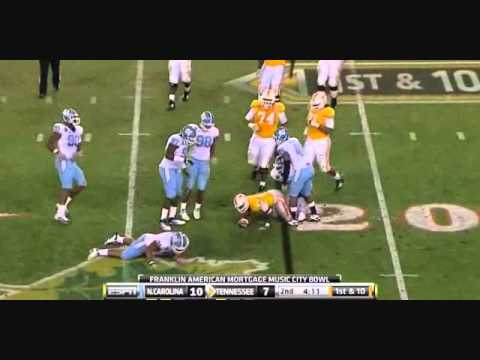 Zach Brown vs Tennessee 2010 Music City Bowl