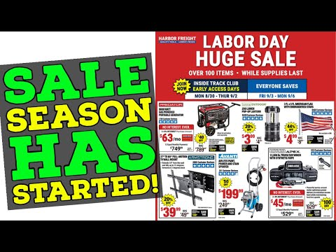 Harbor Freight Labor Day Sale (2021) Sale Season is Officially ON!