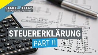 Steuererklärung - Schritt für Schritt (Teil 2)