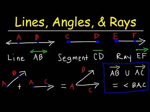 Lines, Rays, Line Segments, Points, Angles, Union & Intersection - Geometry Basic Introduction