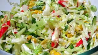 Легкий и очень вкусный весенний салат . Рецепты Алины.