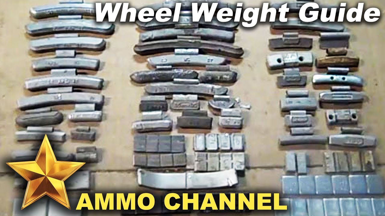 Different types of wheel weights - lead bullet casting