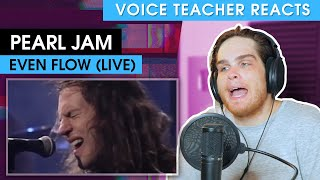 Pearl Jam - Even Flow (Live on MTV Unplugged) | Voice Teacher Reacts