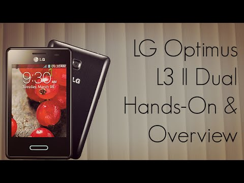 LG Optimus L3 II Dual Phone Features Hands-On Demo & Overview