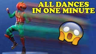 ALL FORNITE DANCES BUT THEY ARE IN ONE MINUTE! FORTNITE FUNNY!
