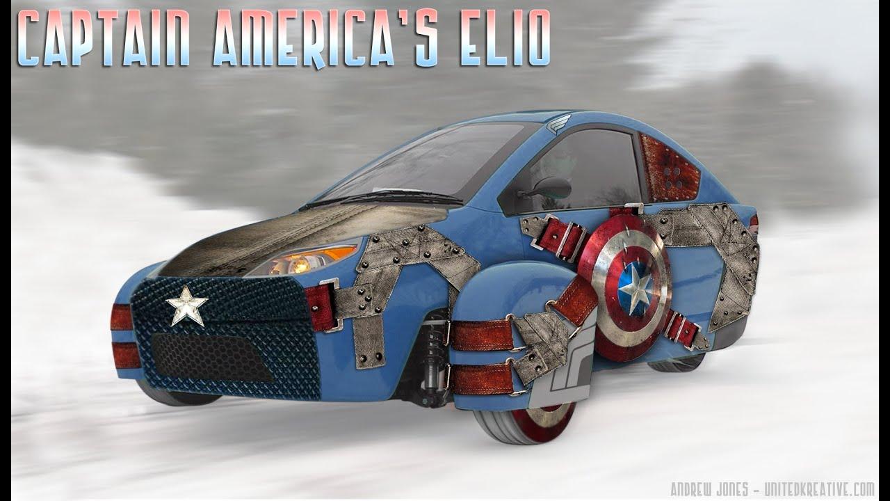 Elio Motors Captain America S Shield Body Wrap