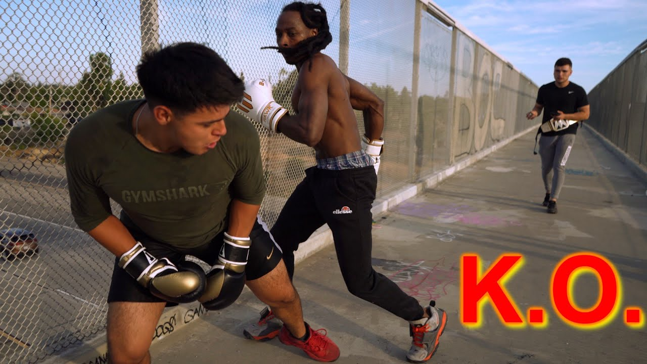 MEXICANS vs BLACKS 2!! (BOXING IN THE HOOD ALL KNOCKOUTS!!) GLOVES UP GUNS DOWN!