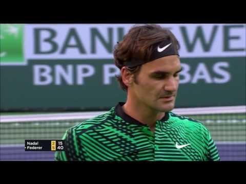 Roger Federer Rafael Nadal Indian Wells 17