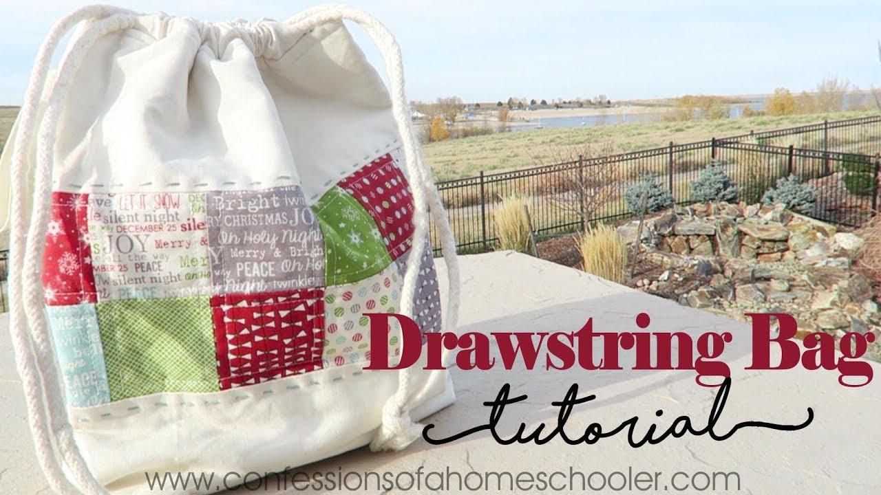 Easy Drawstring Bag Tutorial - YouTube