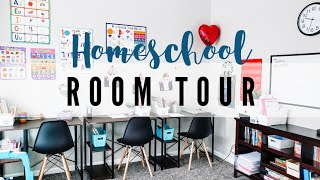 *NEW* HOMESCHOOL ROOM TOUR 🍎 // 2019-2020 SCHOOL YEAR // UTILIZING A SMALL SPACE // COLLAB