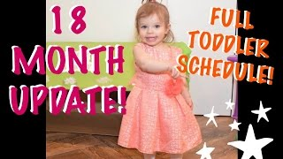 18 MONTH UPDATE | FULL DAILY TODDLER SCHEDULE (VLOG WEEK 35)