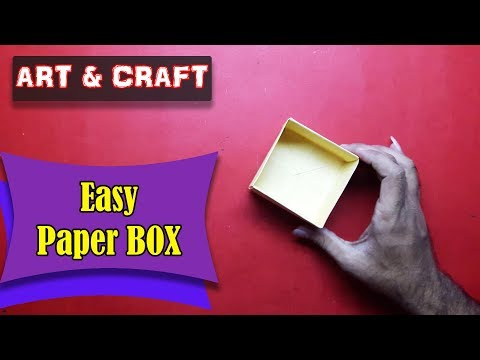 DIY Paper BOX : How to Make Easy Origami BOX || Art & Craft || Open Mind 🎊