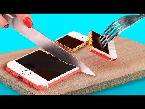 8 DIY खाने वाले फ़ोन केसेस / खाने वाले प्रैंक