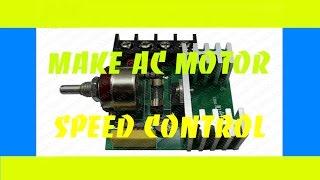 AC motor hız kontrol - DİY Ürünleri nasıl