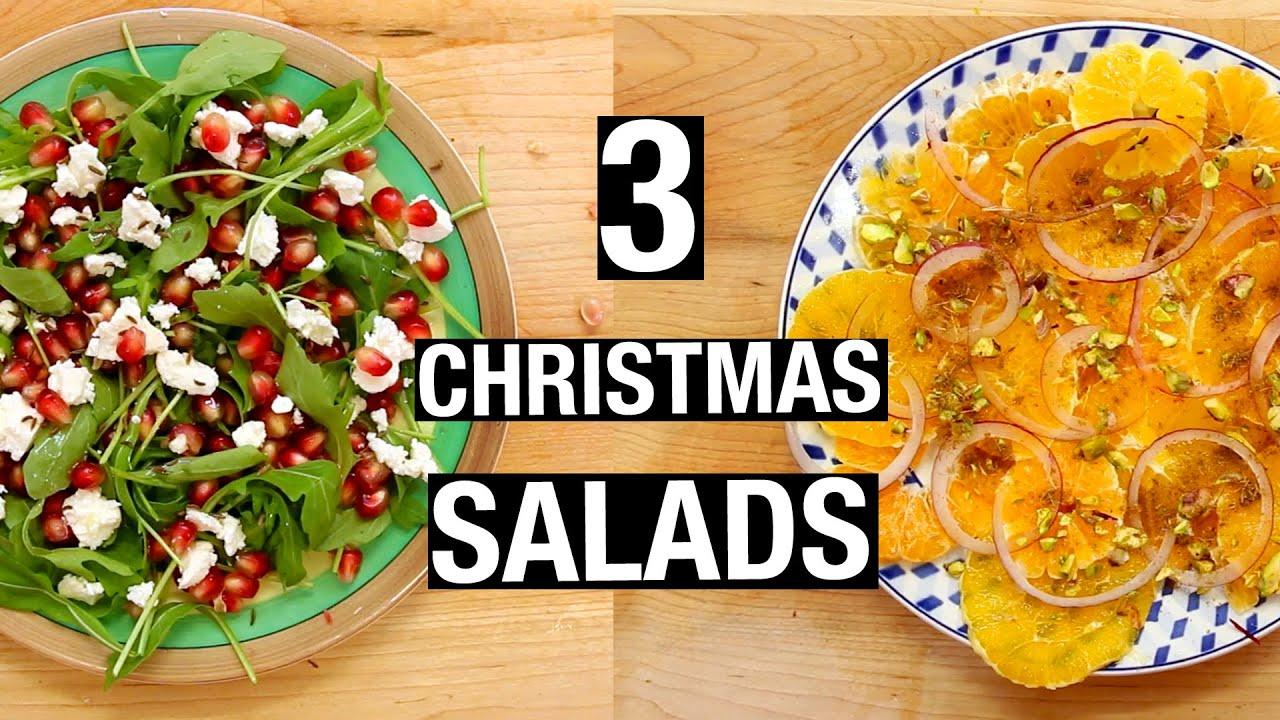 3 Christmas SALADS | Last-Minute Christmas Recipes - YouTube